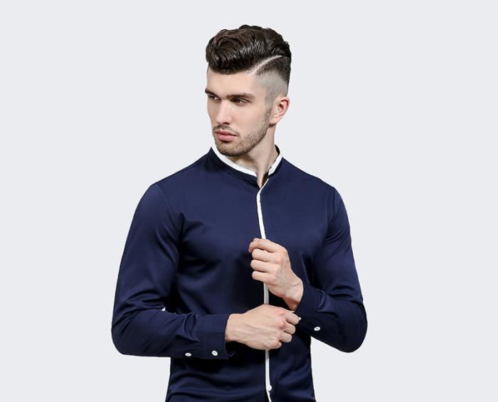 chemise col mao homme